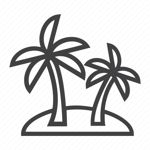 island, palm, summer, tourism, travel, tree, tropical icon