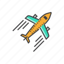 airplane, airport, flight, plane, transport, transportation icon