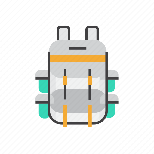 Backpack, camping, holiday, outdoor, transport, travel icon - Download on Iconfinder