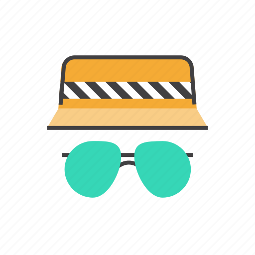 accessories, clothing, fashion, glasses, hat, sunglasses icon