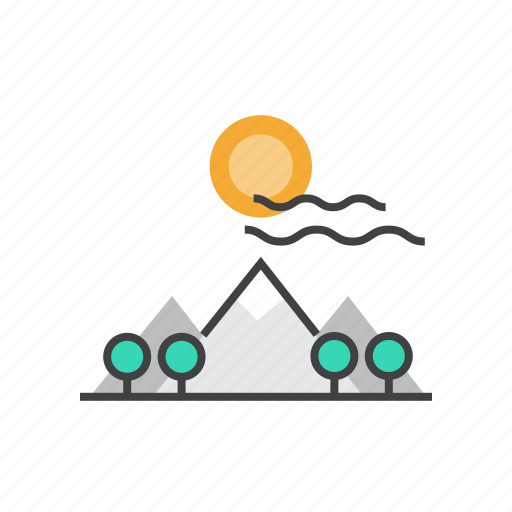 Landscape, mountain, mountains, summer, sun, vacation icon - Download on Iconfinder