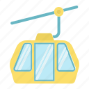 cable, elevator, funicular, mountain, tourism, transport icon