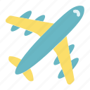 air, aircraft, avitaion, plane, transport, travel icon