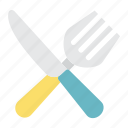 cooking, dinner, fork, kitchen, knife, lunch, restaurant icon