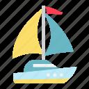 boat, nautical, ocean, sailboat, ship, travel, yacht icon