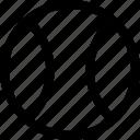 ball, regular, travel icon