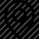 pin, regular, travel icon