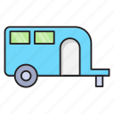 camping, caravan, tour, trailer, transport