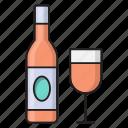alcohol, bottle, drink, glass, wine