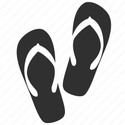 beach, flip-flops, footware, summer, travel, trip, vacation icon