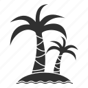 beach, palms, travel, tree, trip, tropics, vacation icon