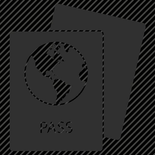 document, id, pass, passport, travel, vacation, visa icon