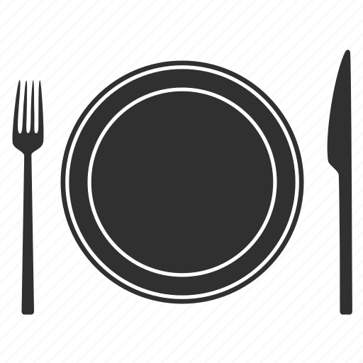 dinner, food, fork, knife, plate, restaurant, travel icon