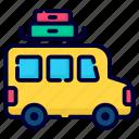 travel bus, travel, camping van, camping, car, camper, tourism