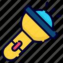 torch, light, camping, flash, flashlight, bright, travel