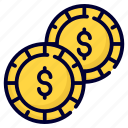 dollar, money, coins, business, currency, finance, cash
