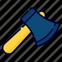 axe, wood cutter, wood, cutter, handle, sharp, steel
