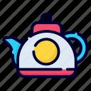 teapot, tea, kettle, kitchen, breakfast, hot