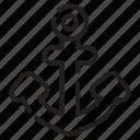 anchor, hook, ship, link, nautical, naval, sailing
