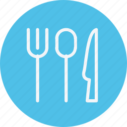 cutlery, fork, knife, meal, restaurant, spoon, tableware icon