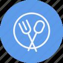 fork, knife, plate, cutlery, dinner, restaurant, spoon