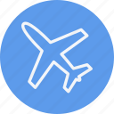 aeroplane, air, airplane, flight, fly, plane, transportation icon