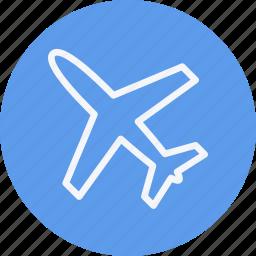 aeroplane, air, airplane, flight, fly, plane, transportation icon
