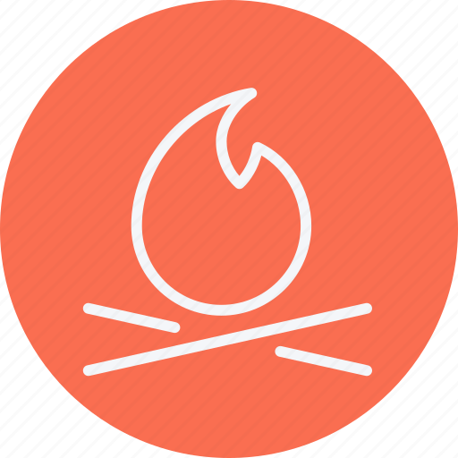 bon, burn, camp, camping, fire, flame, outdoors icon