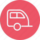 car, caravan, transportation, travel, vacation, van, vehicle icon