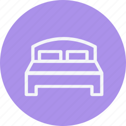 bed, bedroom, double, furniture, home, households, sleeping icon