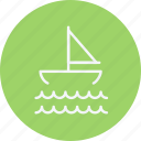 boat, ocean, sail, sailboat, sailing, sea, yacht icon