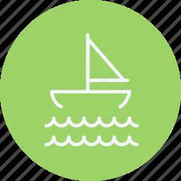 boat, ocean, sail, sailboat, sailing, sea, yacht icon