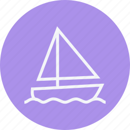boat, sail, sailing, transport, travel, vacation, yacht icon