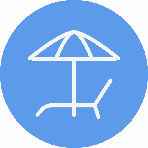 beach, bed, summer, sun, travel, vacation, weather icon