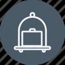 trolly, bag, baggage, briefcase, luggage, suitcase, trolley