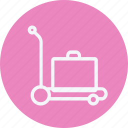 bag, baggage, briefcase, luggage, suitcase, trolley, trolly icon
