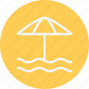 umbrella, beach, sunshade, protection, sun, vacation, weather