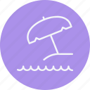 umbrella, beach, summer, sunshade, protect, protection, weather