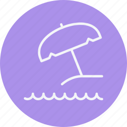beach, protect, protection, summer, sunshade, umbrella, weather icon