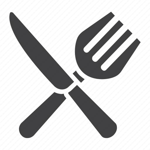 cafe, dining, fork, knife, lunch, meal, restaurant icon