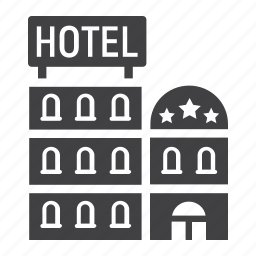 apartment, building, business, hotel, motel, tourism, travel icon