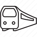 country, fast, speed, train, transportation, travel icon