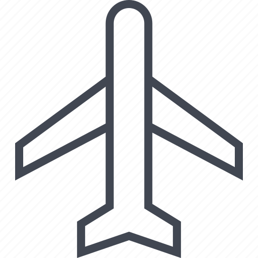 airline, airplane, plane, travel icon