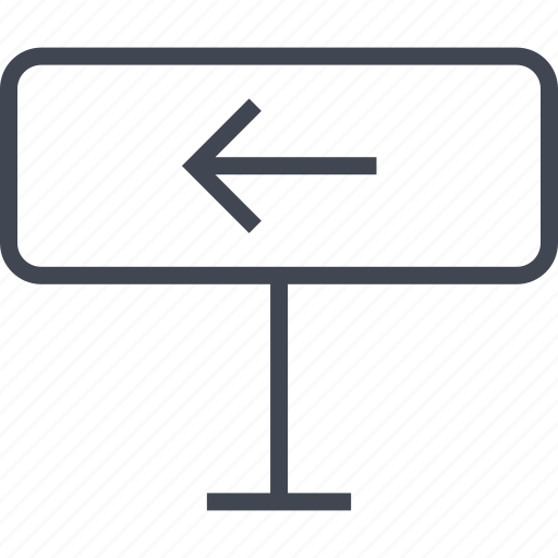 back, direction, exit, left icon