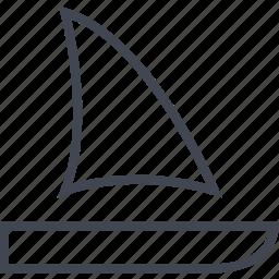 boat, ocean, sail, sailing, water icon