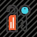 building, hotel, key, lock, room icon