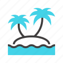 beach, island, ocean, paradise, summer, tree, vacation icon