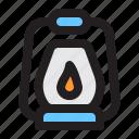 travel, camping, lantern, oil, lamp, light