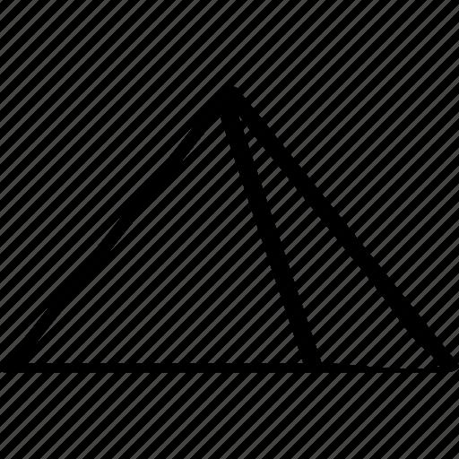 giza, hot, pyramid, travel icon