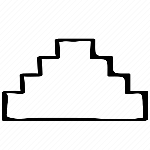 azteca, mayan, pyramid icon